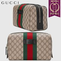 【正規品保証】GUCCI★19春夏★GG SUPREME TOILETRY CASE