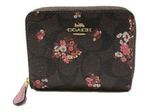 COACH Signature Medley Bouquet Small Zip Around F31955