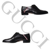 【New 大注目】Gucci Leather brogue shoe with Sylvie Web