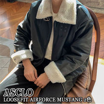 ASCLO★韓国の人気★LOOSEFIT AIRFORCE  MUSTANG 2色