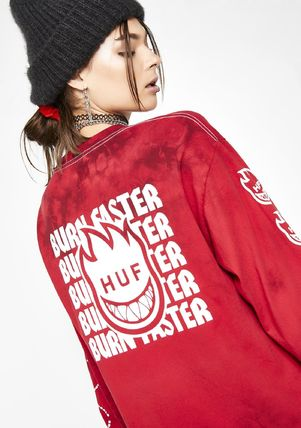 HUF Tシャツ・カットソー 最新作!☆ HUF ☆SPITFIRE BURN FASTER LONG SLEEVE TEE(4)