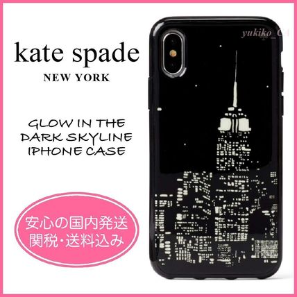 kate spade new york スマホケース・テックアクセサリー 【国内発送】GLOW IN THE DARK SKYLINE IPHONE CASEセール