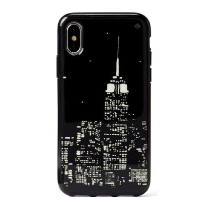 kate spade new york スマホケース・テックアクセサリー 【国内発送】GLOW IN THE DARK SKYLINE IPHONE CASEセール(2)