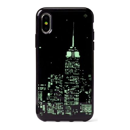 kate spade new york スマホケース・テックアクセサリー 【国内発送】GLOW IN THE DARK SKYLINE IPHONE CASEセール(5)