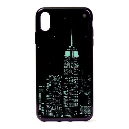 kate spade new york スマホケース・テックアクセサリー 【国内発送】GLOW IN THE DARK SKYLINE IPHONE CASEセール(6)