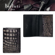 【Berluti】Imbuia Alligator Leather Card Holder カードケース