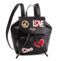 【Love Moschino】Love & Peace パッチデザイン バックパック