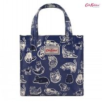 19SS新作★Cath Kidston★SMALL BOOKBAG SQUIGGLE CATS