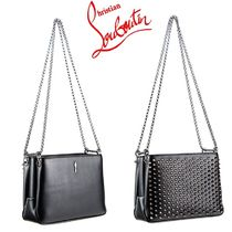 VIP SALE☆全込【ルブタン 】TRILOUBI SMALL BLACK & GUN METAL