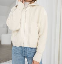 """& Other Stories"" Wool Blend Zippered Turtleneck Cream"