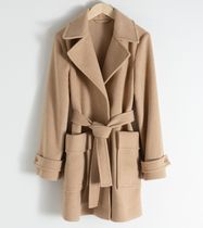 """""""& Other Stories"""" Belted Wool Blend Coat Beige"""