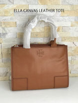 【超お買い得】 TORY BURCH★ELLA CANVAS LEATHER TOTE*追跡有