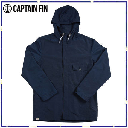 *CAPTAIN FIN*BLOWN OUT JACKET★ネイビーナイロンジャケット