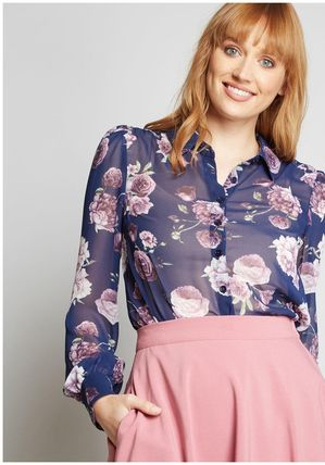 d851390c960 ... modcloth トップスその他 be buzzworthy button-up top(2) ...