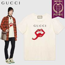 【正規品保証】GUCCI★19春夏★OVERSIZE T-SHIRT WITH MOUTH