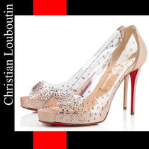 【Christian Louboutin】Very Strass Pvc/Suede Lame パンプス