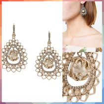 ピアス pearl embellished earrings