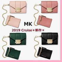 ◆MK◆Whitney Small Leather Chain Wallet◆