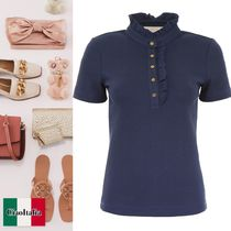 TORY BURCH  EMILY POLO フリル付き トップス