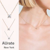 NY発プリンセスカットダイヤモンドネックレス【AUrate NewYork】