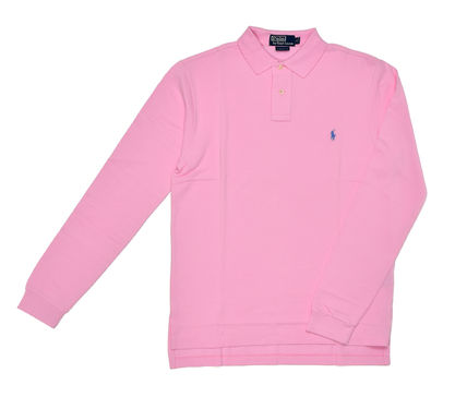 POLO RALPH LAUREN ポロシャツ 【即発可】POLO RALPH LAUREN CUSTOM FIT 長袖 ポロシャツ PINK