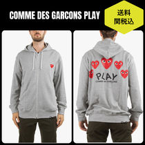 COMME DES GARCONS PLAY★ハートロゴジップアップパーカー関税込