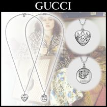 "☆GUCCIグッチ☆""Blind For Love"" シルバーペンダントネックレス"