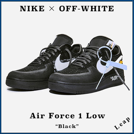 """【Nike×OFF-WHITE】限定コラボ 人気 Air Force 1 Low """"Black"""""""