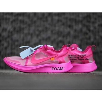 THE 10 OFF-WHITE NIKE ZOOM FLY  PINK AJ4588-600 28cm US10