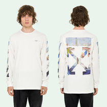 OFF WHITE 19SS DIAG COLORED ARROWS L/S TEE