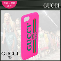 【GUCCI】 iPhone7 Case ロゴ入りケース ピンク
