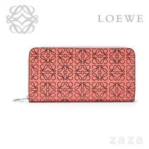 LOEWE★ロエベ Zip Around Wallet Pink Tulip/Black
