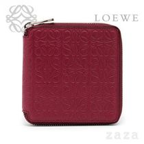 LOEWE★ロエベ Square Zip Wallet Raspberry