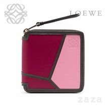 LOEWE★ロエベ Puzzle Square Zip Wallet Wild Rose/Raspberry