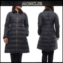 【MONCLER GAMME ROUGE】ウールロングダウンジャケットGRAY/EMS