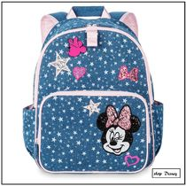 MNY発送★ディズニー minnie Mouse Denim Backpack for Kids