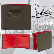 **CHRISTIAN LOUBOUTIN**Spike and leather bi-fold wallet 財布