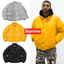 FW18 Supreme Schott Down Leather Vest Puffy Jacket