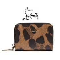 【19SS】Christian Louboutin★leopardprint leather coin purse