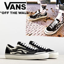 ◆Vans◆US完売! メンズ STYLE 36 SF FLAME 黒x白  税込即発