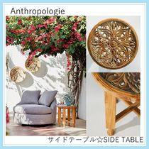 【Anthropologie・大型家具取扱】Carved Teak Side Table