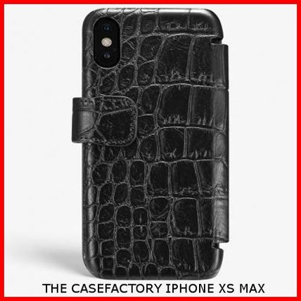 THE CASE FACTORY スマホケース・テックアクセサリー 関送込☆THE CASEFACTORY☆IPHONE XS MAX CARD CASE CROCODILE