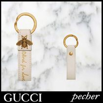 【GUCCI】Blind for Love レザー キーリング