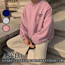 ASCLO★韓国の人気★OVERFIT CHEESE CAKE SWEATSHIRT 3色