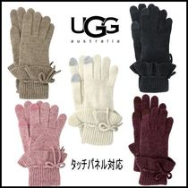 【UGG】スマホ対応 手袋  Ruffle Knit Gloves with Bow