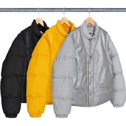 Supreme アウターその他 18 WEEK Supreme FW 18 Schott Down Leather Vest Puffy Jacket
