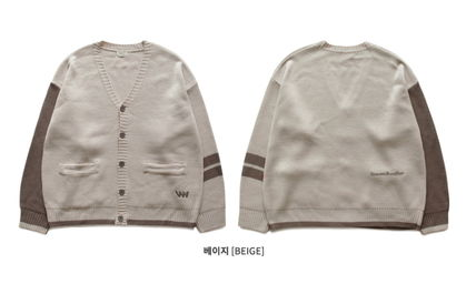 WV PROJECT カーディガン WV PROJECT★Loose touch Cardigan 4カラー- MJOT7117(12)