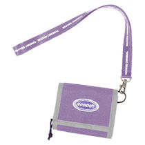 114.Ncover logo necklace wallet-light purple