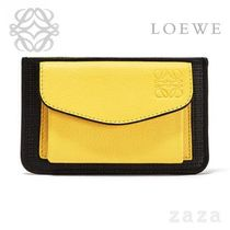 LOEWE★ロエベ Pocket/Card Holder Black/Yellow
