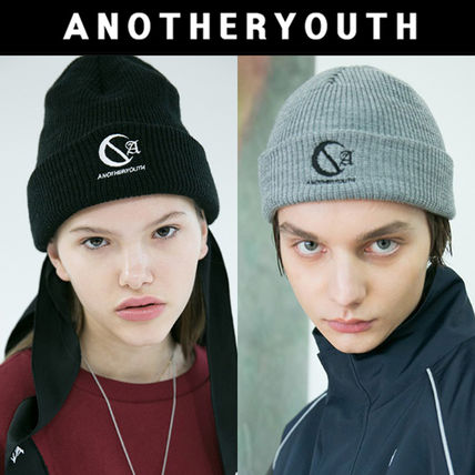 ANOTHERYOUTH ニットキャップ・ビーニー ANOTHERYOUTH★logo beanie (2色)★男女共用